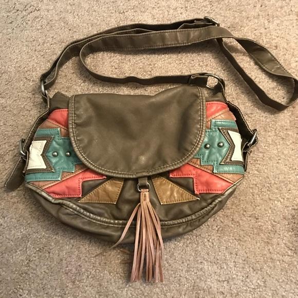 Handbags - Aztec design crossbody bag